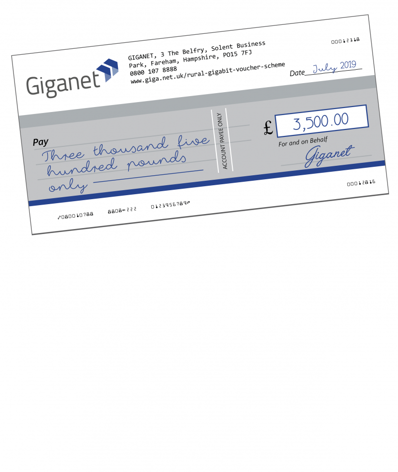 Rural Gigabit Voucher Scheme 3500 Giganet Fast
